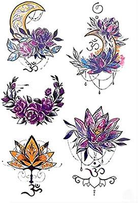 HBDG Body Art Tatuaje temporal Colorido Atrapasueños Golondrina ...