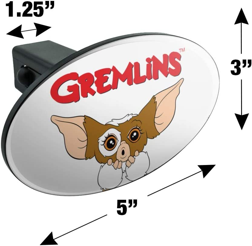 Gremlins Gizmo Logo Oval Tow Trailer Hitch Cover Plug Insert