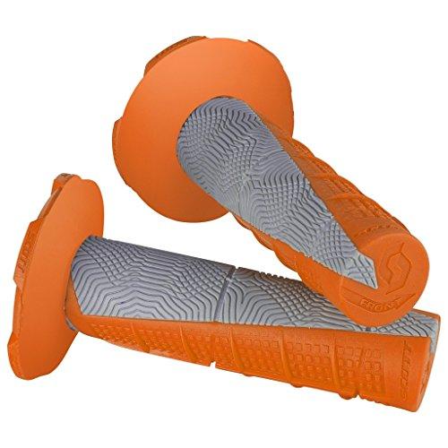 - Scott Sports USA Gray One Size Scott Sports 219627-1011 Orange/Grey Duece Motorcycle Grips w/Donuts