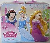 "Disney Princess 48pc Puzzle Tin - Lunch Tin Box ( 7.75"" x 6.50"" x 3.25"")"