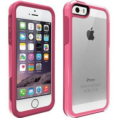 OtterBox SYMMETRY CLEAR SERIES Case for iPhone 5 5s SE - Retail Packaging -  SORBET CRYSTAL (CLEAR HIBISCUS PINK)  Amazon.co.uk  Electronics c004fead2164
