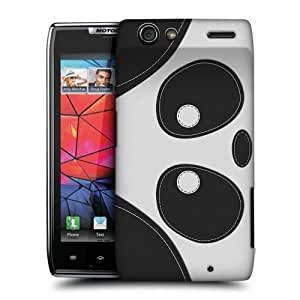 TopFshion Designs Panda Bear Animal Patches Protective Snap-on Hard Back Case Cover for Motorola DROID RAZR XT910