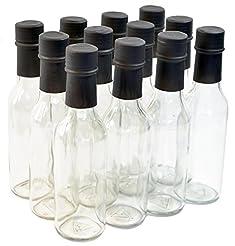 Clear Glass Woozy Bottles, 5 Oz - Case o...
