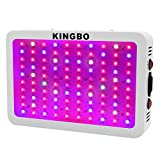 KINGBO 300W LED Grow Light Full Spectrum for Indoor Plants Veg and Bloom, Hydroponic Garden Greenhous Grow light. (9-Band, 3W/LED) Review
