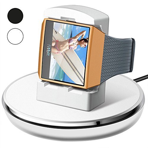 For Fitbit Ionic Charger, Epuly for Fitbit Ionic Accessories Women Men Charging Stand/Dock/Station/Holder/Cradle with 3 feet Charging Cable for Fitbit Ionic Smartwatch White
