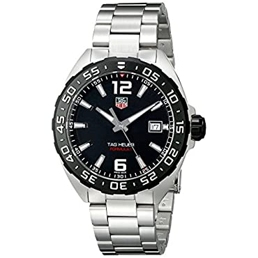 TAG Heuer Formula 1 Black Dial 3 Row Links Steel Quartz Men's Watch (WAZ1110.BA0875)