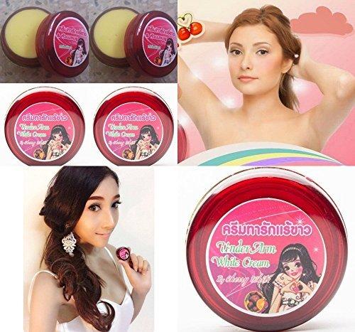Pack of 4 Boxes Cherry White Cream Whitening Lightening Skin Underarm Armpit Bikini Pink Nipple 0.17 Oz. or 5 - Peeling Sunglasses