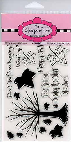 Leaves Tree Scrapbooking Stamps for Card Making by The Stamps of Life - Leaves4Fall Sentiments