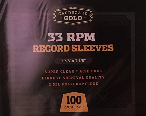 100 CBG 33 RPM 12″ LP Record Album Sleeves – Archival Quality Protection for Your Records