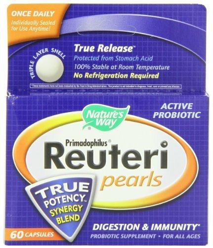 Nature's Way Primadophilus Reuteri Pearls, 60 Count (Pack of 3)