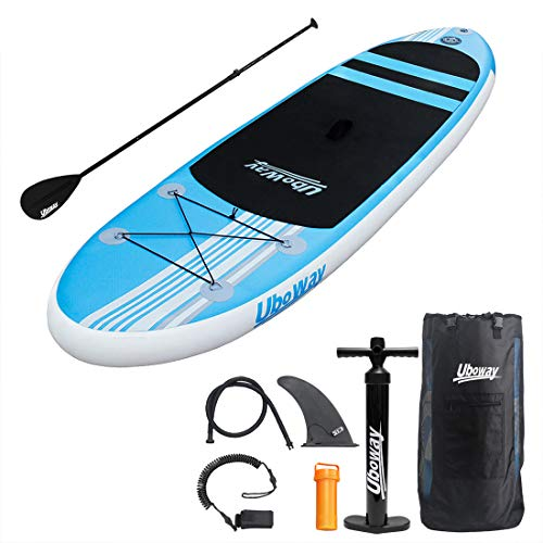 UBOWAY Inflatable Stand Up Paddle Board 6'' Thick with Adjustable...