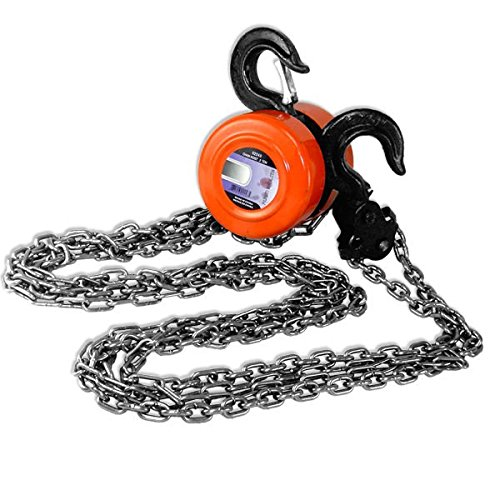(Hiltex 02207 Chain Hoist Pulley, 3 Ton | Swivel Hooks with Safety Latches | 9 Feet Lift )