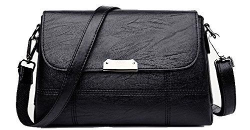 Handbags Casual Buckle Women Gmxbb180941 Crossed Bags Black Agoolar Shopping Pu OXgHq