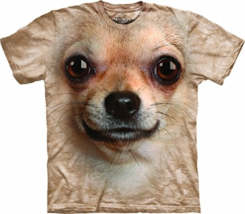 The Mountain 1033323 Chihuahua Face Adult Unisex Short Sleeve T-Shirt XL Sand (Chihuahua Face T-shirt)