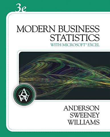 Modern Business Statistics (with Student CD-ROM) (Available Titles Aplia) (Modern Business Statistics)