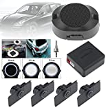 Car Reverse Backup Radar System Premium Quality 4 Parking Sensors Car Reverse Backup Radar System with Wings (Silver)