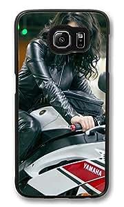 S6 Case, Yuliya Snigir Good Day To Die Hard Bike Ideas Ultra Fit Black Bumper Shockproof Case For Galaxy S6 Customizable Hard PC Samsung Galaxy S6