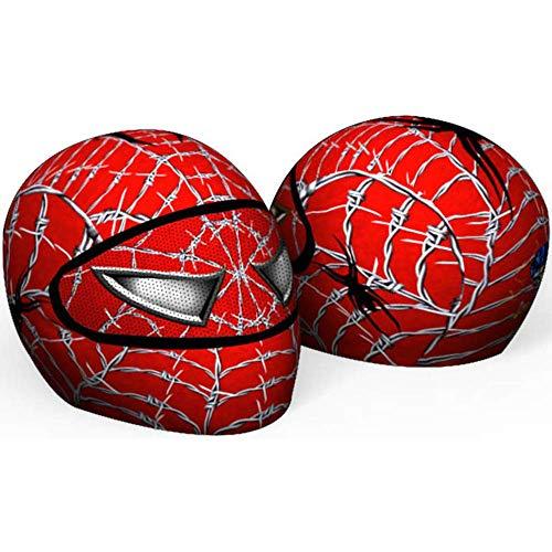 SkullSkins Spider-Man Wired Web Red Universal Full Face Motorcycle Helmet Cover Skin