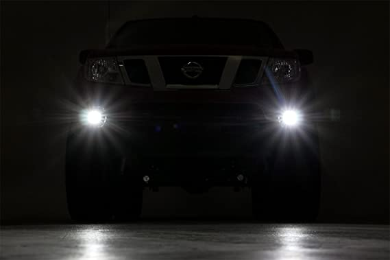 2007 Nissan FRONTIER KING CAB Post mount spotlight Driver side WITH install kit -Black 6 inch LED