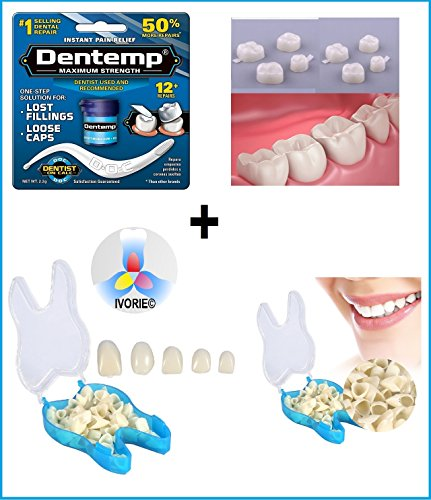 Dental Cosmetic Temporary Crowns & Dental Glue Home Use (Molar Teeth)