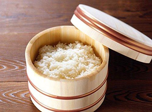 Natural Wood Ohitsu Rice Hangiri Japan Kitchen Goods Size8.2'''(21cm)