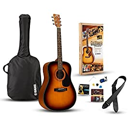 Yamaha Gigmaker Standard Acoustic Guitar w/ Gig Bag, Tuner, Instructional DVD, Strap, Strings, and Picks – Sunburst