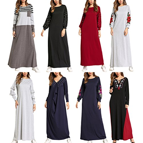 Jalabiya Multiple Femme Longues Dubai Abayas pour Styles Gray Caftan Arabe Robe Filles Arabie Saoudite 2 Zhhlinyuan Maxi Manches zxHAAqw