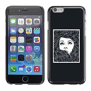 "For Apple Iphone 6 Plus / 6S Plus ( 5.5 ) Case , Marco Chica Mujer Cartel Dibujo"" - Diseño Patrón Teléfono Caso Cubierta Case Bumper Duro Protección Case Cover Funda"