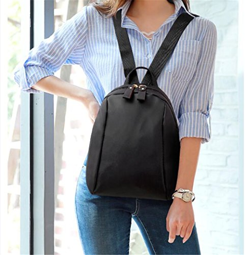 Leisure Bag Nylon Black Cross Single Hand Shoulder Fashion Bag 1A55xq