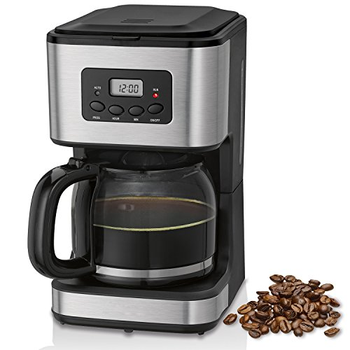 briebe Cafetera programable eléctrica de Goteo automática, máquina café de Filtro Capacidad 12 a 14 Tazas, 1,5 litros…