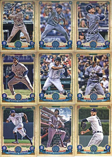 2019 Gypsy Queen Baseball Detroit Tigers Team Set of 9 Cards: JaCoby Jones(#7), Matt Boyd(#24), Dawel Lugo(#29), Jeimer Candelario(#44), Miguel Cabrera(#66), Niko Goodrum(#181), Christin Stewart(#212), Shane Greene(#246), Nicholas Castellanos(#274)