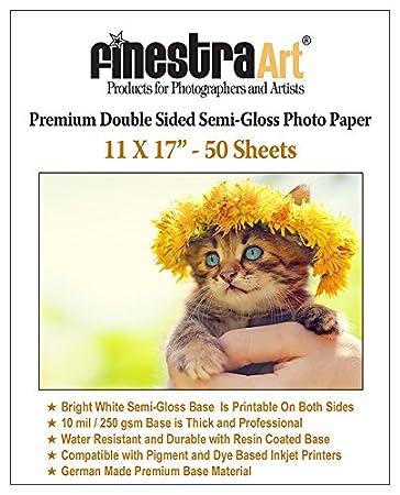 Amazon.com: 11 x 17 50 hojas de papel fotográfico Premium ...