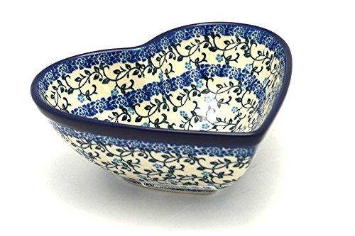 Polish Pottery Bowl - Deep Heart - Terrace Vines