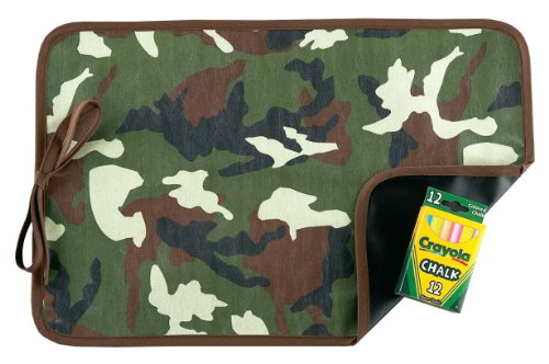 AM PM Kids! Reversible Placemat/Chalkboard, Green Camo
