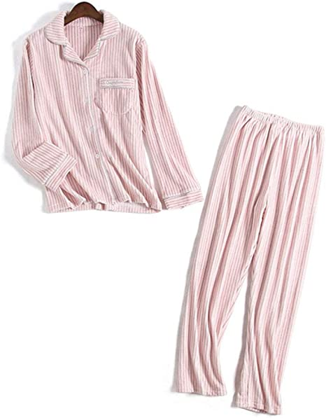 Zanzan Pijamas algodón cálido Pijamas Dormir Pantalones Tops ...