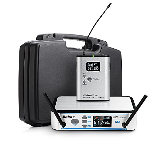 Enbao Portable EU88 UHF One Channel Wireless Microphone System Instrument/Guitar System by Enbao