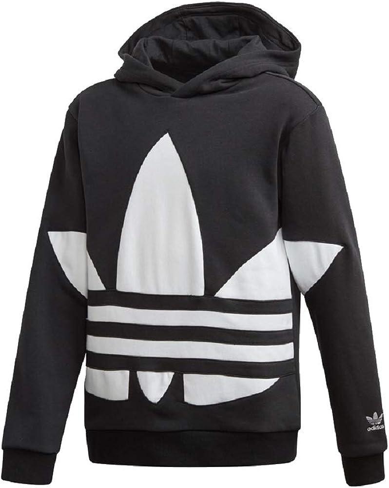 Adidas Big Trefoil - Sudadera con capucha para mujer blanco ...