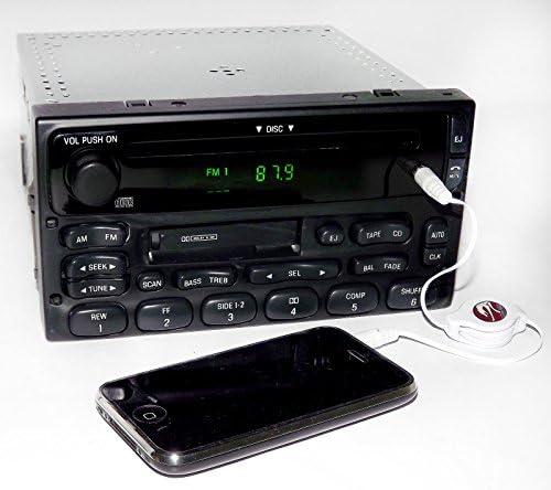 1999-10 Ford Truck Van Radio AM FM Cassette Single Disc CD Player 1F2F-18C868-AA