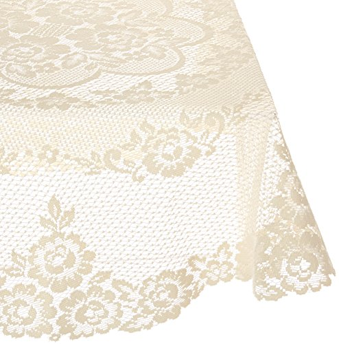 Heritage Lace Victorian Rose 43-Inch Round Table Topper, Ecru by Heritage Lace