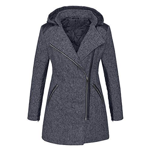 Innerternet Sweat Manteau Gris shirt Polaire Hiver Automne Chaud 16 Femme Hoodie À Capuche Veste Zippé 4Unq4xrg