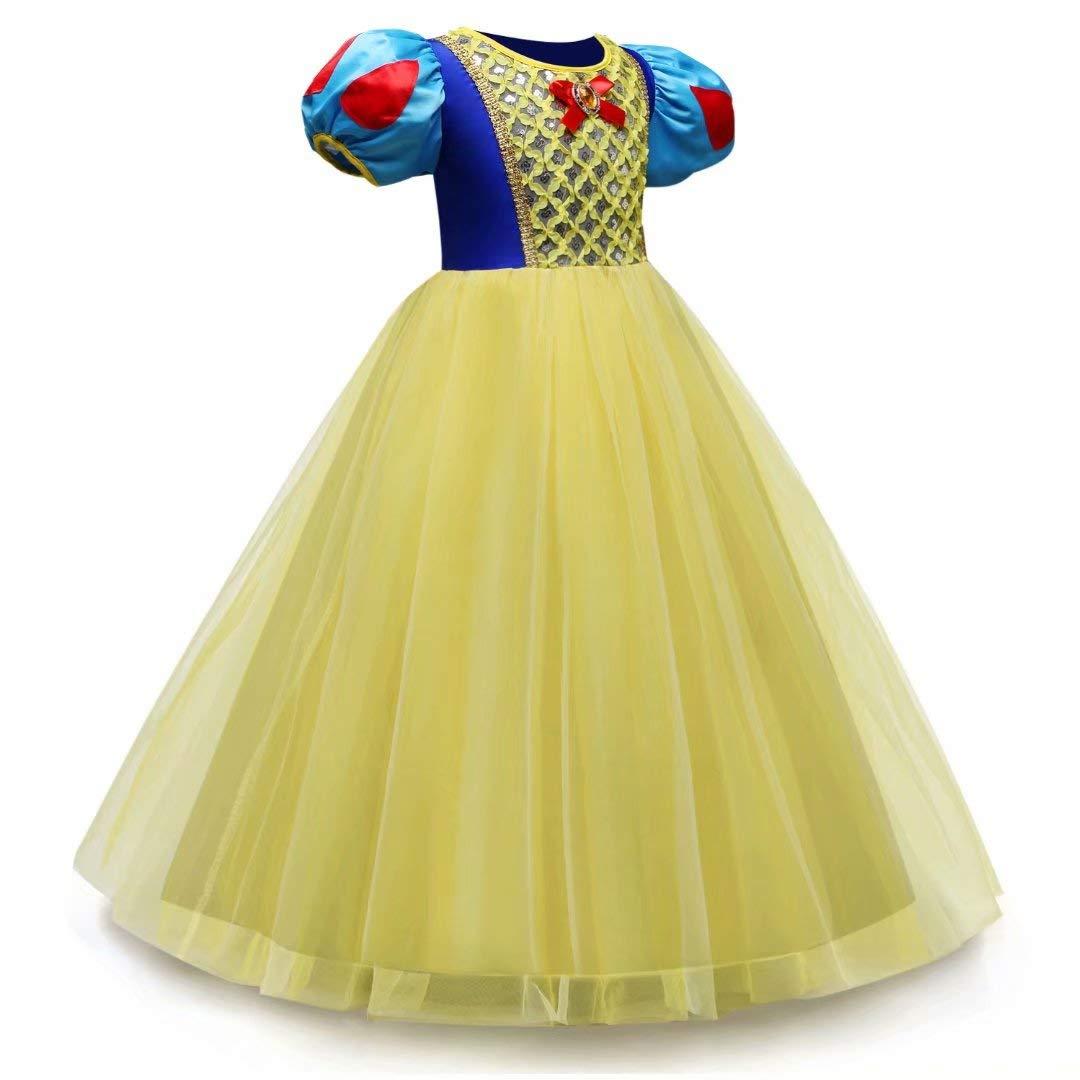 Tsyllyp Girl Snow White Coustume Princess Tutu Dress up Party Gown by Tsyllyp (Image #3)