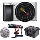 Sony a6300 Mirrorless Camera with 18-135mm Lens Compact Mic Bundle (Silver)