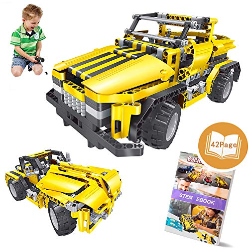 STEM Toys for Boys and Girls,426 Pieces Educational Engineering Building Blocks Kits for Kids 7 8 9 10+ Years Old|RC Car Construction Set Birthday Gift for Age 6yr-14yr