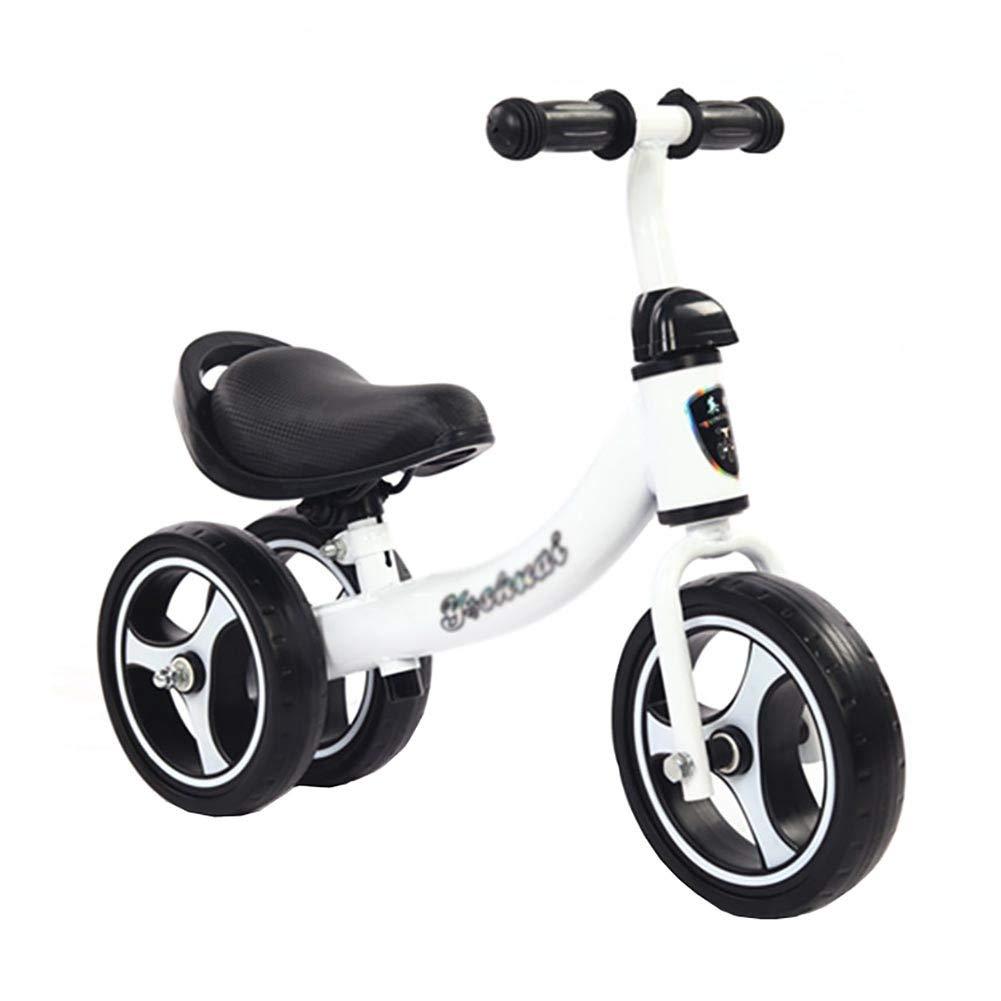 Bicicletta YXX Bici per Bambini Bici per 1-3 Anni Bici, Bici Senza Pedale Pedale con Manico Regolabile (colore   Bianca)