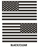 1 Pair Superb Popular Black-Clear Subdued Flag Stickers Sign Military Home Vinyl Size 8