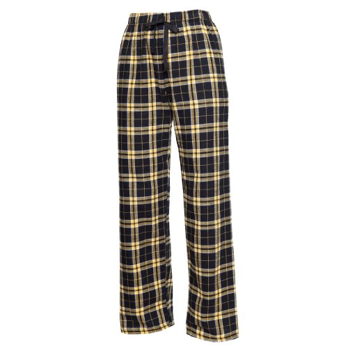 Boxercraft Fashion Flannel Pants With Pockets - F20 - Black / Gold - Large -