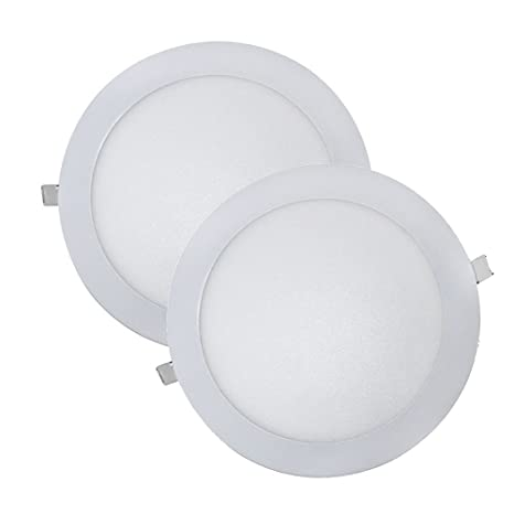 Wonderlamp W-E000045 - Juego 2 Downlight LED Extraplano Redondo, Iluminacion 18W (1450
