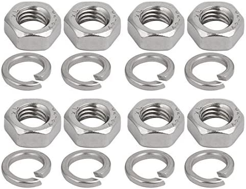 4pcs M8x27mm 304 Stainless Steel Round U-Bolt with Hexagonal nut Spring Washer
