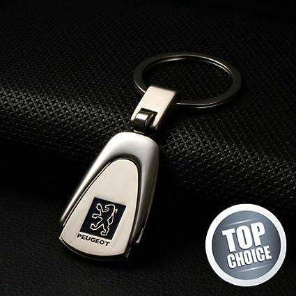 Llavero Automotiva con el logo de Peugeot, efecto cromado ...