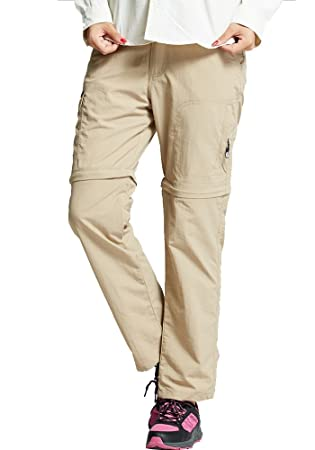 1eafef364b78b Jessie Kidden Lightweight Womens Convertible Cargo Pants Quick Drying  Trousers  2088F Khaki
